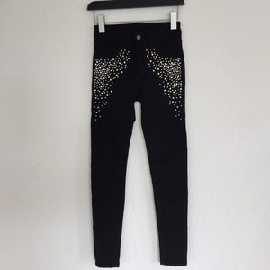 Carmar Black Rhinestone Legging Jeans